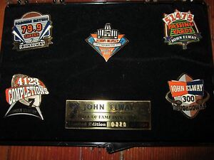 John Elway Hall of Fame Inductee 2004 Pin Set of 5 Limited Edition 320/2004