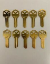 *Lot Of Ten Locksmith Kw1 Key Blanks Fits Kwikset Solid Brass Made In Usa*