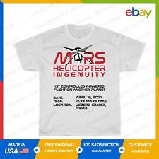 Ingenuity Helicopter Flight Flying Mars 2020 T-Shirt White S-5XL