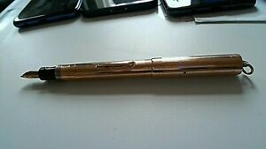 Solid 9ct Gold Victorian Fountain Pen mid C19th Rich Red Rose Gold 17.1g