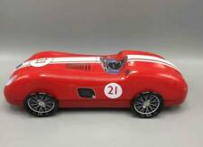 Tin Bread Box Storage Box Speedster #21 Auto Car Red