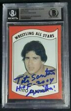 1982 Wrestling All Stars Tito Santana Signed Rookie Autograph RC BAS BGS 10 Auto