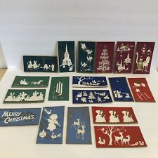 Lot Of 18 Vintage CAMEO Christmas Cards Mid Century UNUSED W/ Envelopes