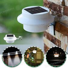 New 3 Led Solar Powered Gutter Light Outdoorgardenyardwallfencepathway Lamp