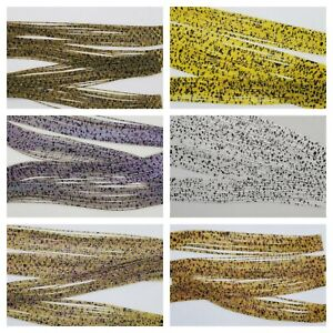Nimrod's Tackle 10 or 24 CRYSTAL SPECKLED SILICONE SKIRTING TABS / LEGS Jig Fly