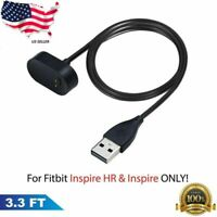 3.3FT USB Charging Cable Charger Cradle Base For Fitbit Inspire HR Smartwatch US