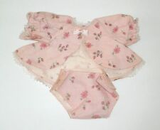 """Vintage Mattel 13"""" CHEERFUL TEARFUL ORIGINAL PINK FLANNEL OUTFIT Top & Diaper"""