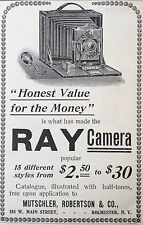 1901 AD(F25)~RAY NO.2 CAMERA, MUTSCHLER, ROBERTSON & CO. ROCHESTER, NY.
