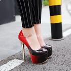 Super High Stiletto Heels Platform Womens Platform Party Shoes Pumps Plus Size
