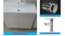 Free Standing Vanity 750x360mm Polymarble Basin FREE Basin Mixer & Pop-Up Waste