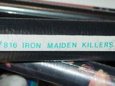 IRON MAIDEN VINTAGE 1988 88 KILLERS EDDIE ROLLED FELT BLACKLIGHT POSTER -Rare!