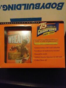 Muhammad Ali Mini Wheaties Box - 75 Years of Champions 24K Gold Signature