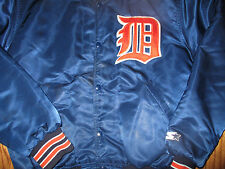 Orig 1990's DETROIT TIGERS Road Satin Warm Up Jacket Medium By Starter Gorgeous