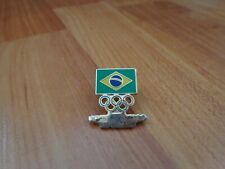 LONDON 2012 OLYMPICS GAMES - BRAZIL TEAM ENAMEL OFFICIAL PIN BADGE USED