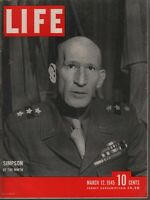 Life Magazine March 12 1945 Gen Simpson Iwo Jima Vintage WWII Ads 082019AME