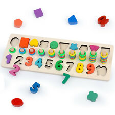 Zotoya Wooden Puzzle Number & Shape Sorter Toy | Educational- Learn to Count