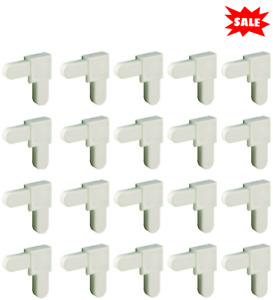 White Plastic Mobile Home Window Screen Frame Corners Replacement Part 20 Pack