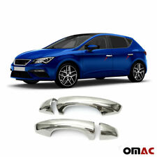 Fits Seat Leon 2012-2019 Chrome Side Door Handle Cover S.Steel 4 Pcs