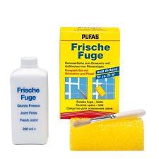 (48,00 €/L)  Pufas Frische Fuge Fliesenfuge Fugenfarbe Komplett Set weiß 250ml