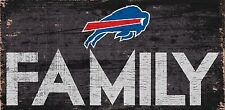 "Buffalo Bills FAMILY Football Wood Sign - NEW 12"" x 6""  Decoration Gift"