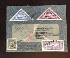 1932 Paraguay Registered Zeppelin Cover 1st Flight AAMC Z-180E