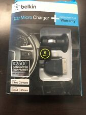Belkin Car Micro Charger. 5 Watt. For iPod And iPhone 3G/4/4s