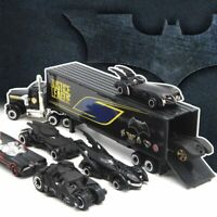 Set of 7 Batman Batmobile & Container Truck Car Model Toy Vehicle Kids Xmas Gift