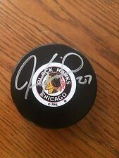 Jeremy Roenick Chicago Blackhawk signed puck