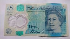 Polymer £5 misprint note. Missing:ElizabethTower,SilverFoilPatch,CoronationCrown
