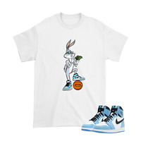 Shirt for Air Jordan 1 ''University Blue'' Unisex Tshirt Style 1 -White Shirt