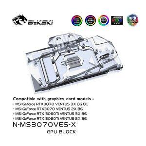 Bykski N-MS3070VES-X GPU Water Block for MSI RTX 3070 3060Ti VENTUS 3X OC + BP