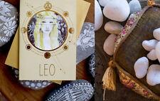PAPAYA ART Zodiac LEO Greeting Note Card ~ Blank Inside ~ July 23 - Aug 22