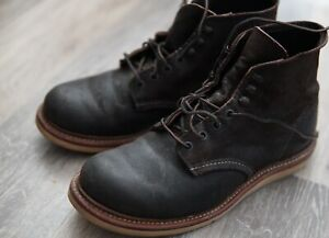 Red Wing J Crew Boots Chocolate Rough Out Suede 4573 8D