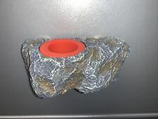 New listing Dark Gecko Reptile Feeder Rock Magnetic Bowl