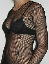 Fishnet Lace Crochet Stripe Long Sleeve Tops OSFM  Dance Gothic Punk Emo Colour