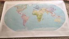 """RAVEN MAPS Countries Of The World Large Laminated Wall Map 35"""" X 58"""""""