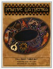 Primitive Gathering FALL CRAZY TABLE MAT PATTERN wool by Lisa Bongean