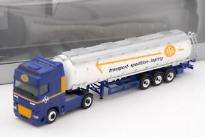 HERPA HO 1/87 - CAMION DAF SEMI REMORQUE ASG TRANSPORT SPEDITION LAGRING