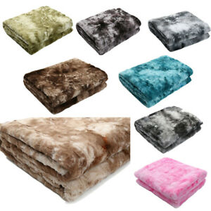Faux Fur Throw Blanket Soft Thick Heavy Decoration Scarf Sofa Couch Bed Blanket