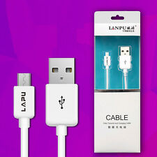 Micro USB Cable Data Sync Charger Cord Fabric Lead For Samsung HTC Android Phone