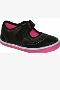 Wonder Nation Toddler Girls Black Mary Jane Athletic Shoe 7, 8, 9, 10, 11, 12