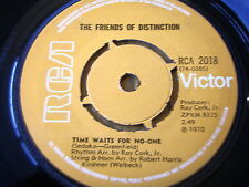 "THE FRIENDS OF DISTINCTION - TIME WAITS FOR NO-ONE / NEW MOTHER NATURE  7"" VINYL"