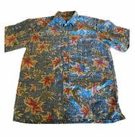 Reyn Spooner Vintage Hawaiian Traditionals Floral Aloha Camp Shirt L Large