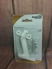 National N248-351 Steel Bracket Holder, White Finish. New