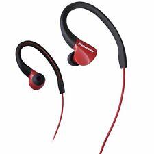 Auriculares rojos deportivos con conexión Cable