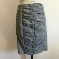 Anthropologie Cartonnier Sexy Ruched Pencil Wiggle Secretary Geek Skirt Size 6