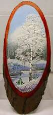 Landscape Painting Genuine Semi-Precious Gems Russian Siberia Artisan Handicraft