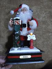 Vintage Holiday Creations Musical Santa North Pole Christmas Carols w/packages