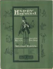 The Happy Hayseed Characteristic March Two-Step 1903 BANJO SOLO Sheet Music