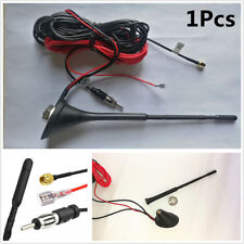 New 12V DAB Car Radio Aerial Amplified Antenna AM/FM SMA Male Connector 5m Cable